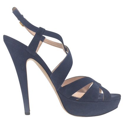 Miu Miu Blue Suede Sandals