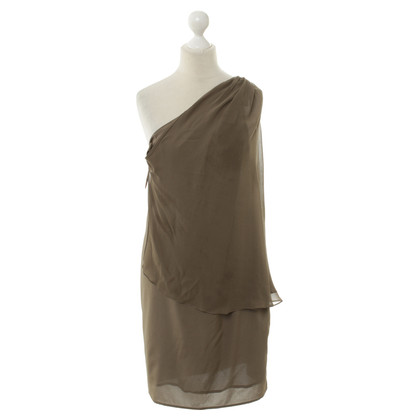 Phillip Lim One shoulder dress in khaki