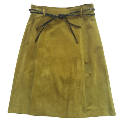 Max Mara Leather skirt - velor