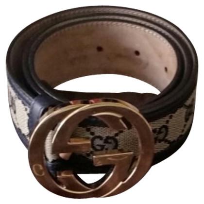 Gucci Blue canvas belt
