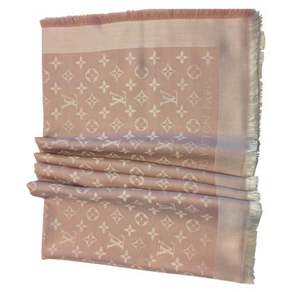 Louis Vuitton Pink denim shawl
