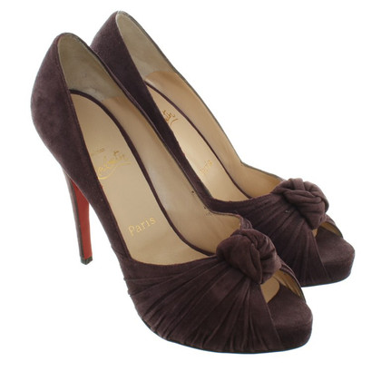 Christian Louboutin Peep-toes from suede