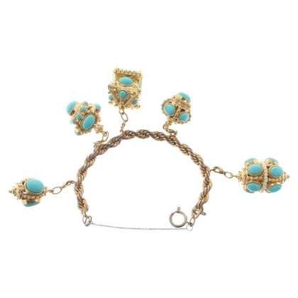 Marc Jacobs Gold bracelet with pendants