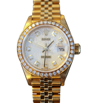 rolex lady datejust aus gelbgold second hand rolex. Black Bedroom Furniture Sets. Home Design Ideas