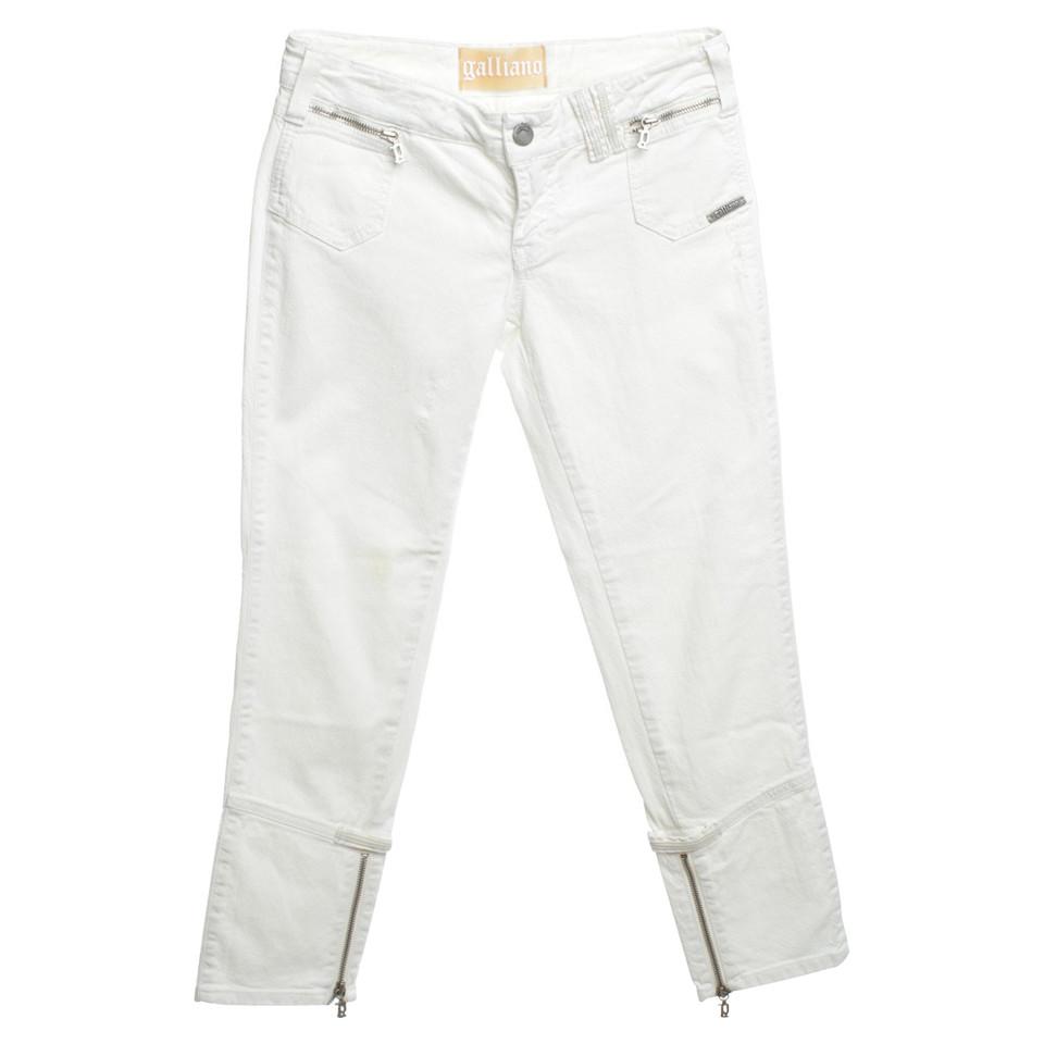 John Galliano Jeans in White