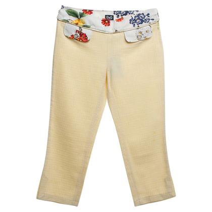 Dolce & Gabbana trousers in yellow
