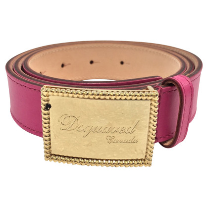 Dsquared2 cintura in pelle fucsia