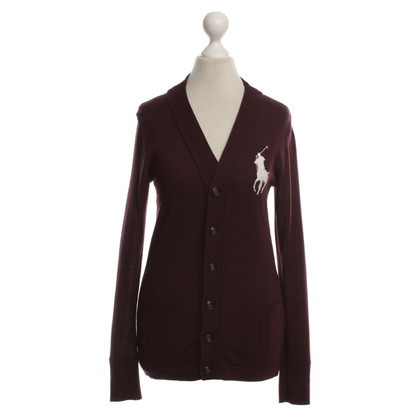 Ralph Lauren Strickjacke in Bordeaux