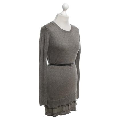 Patrizia Pepe abito in maglia di colore grigio-marrone