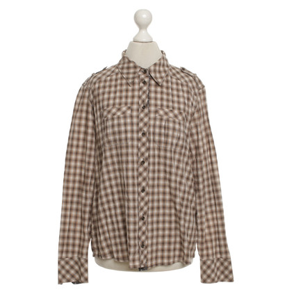 Marc Cain Shirt blouse with check pattern