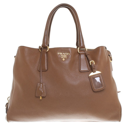 Prada Leather shoulder bag in brown