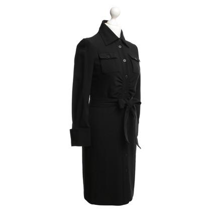Patrizia Pepe Blouses jurk in zwart
