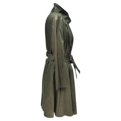 Christian Dior cappotto in pelle con taglio ampio