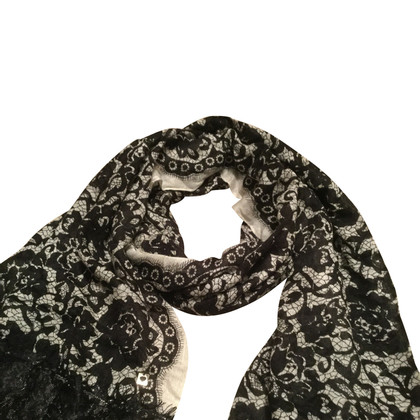 Twin-Set Simona Barbieri scarf with lace