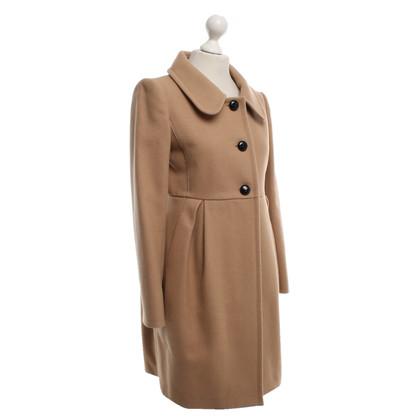 Miu Miu Manteau en brun clair