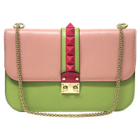 "Valentino ""Lock Shoulder Bag"" in tricolor"