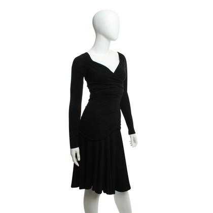 Plein Sud Draped dress in black