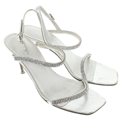 Escada Silver colored sandals
