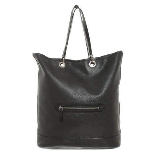 adeed1986c52 Longchamp Handbag Leather in Black - Second Hand Longchamp Handbag ...