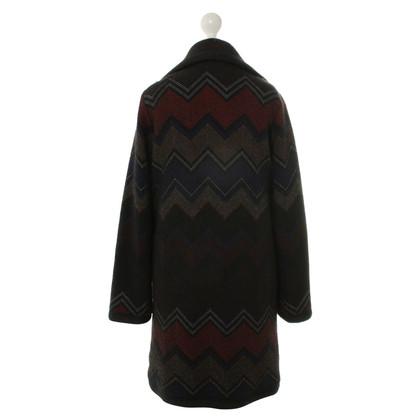 Missoni Motivi di manteau en laine à