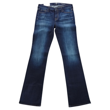 7 For All Mankind Bootcut Jeans Blau