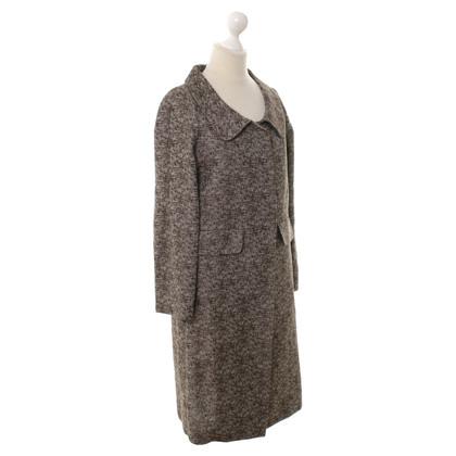 Marni Mantel in Braun/Weiß