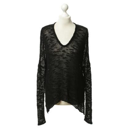 Helmut Lang Black knit pullover