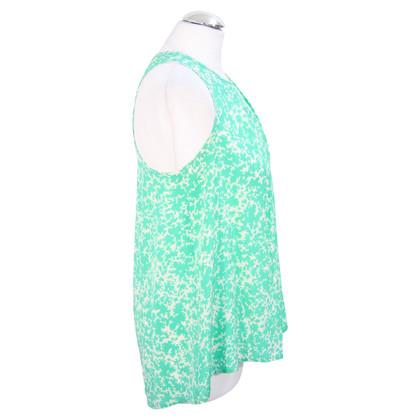 Whistles Top in seta verde