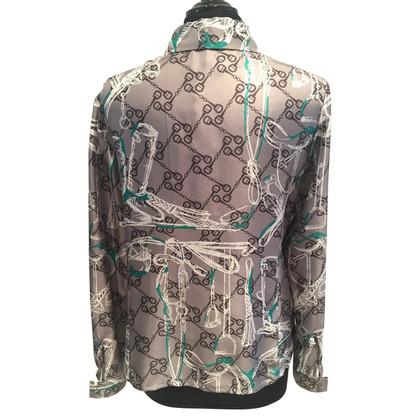 Aigner blouse en soie avec motif