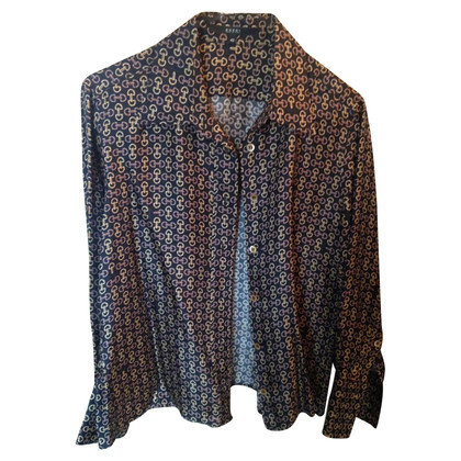 Gucci printed GUCCI silk emblem shirt