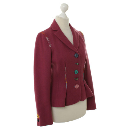 Moschino Cheap and Chic Fucsia lana Blazer