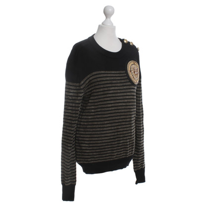 Balmain X H&M top with stripe pattern