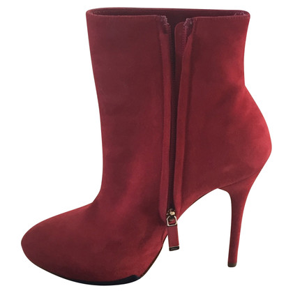 Ralph Lauren Red Suede Ankle Boots