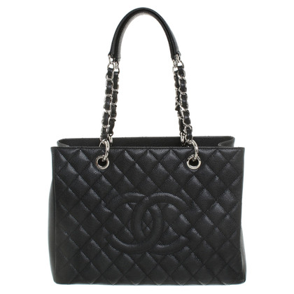 """Chanel """"Grote Shopping Tote"""" in zwart"""