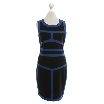 """Diane von Furstenberg Dress """"Galya"""" in blauw / zwart"""