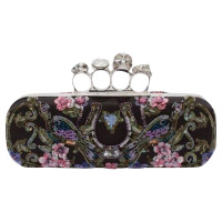 Alexander McQueen Embroidered Knuckle Box clutch