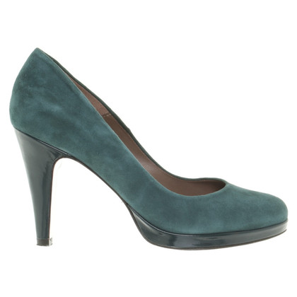 René Lezard Suede pumps in petrol