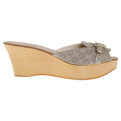 Armani Wedges in Beige