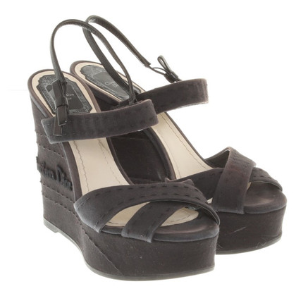 Christian Dior Wedges in Dunkelblau