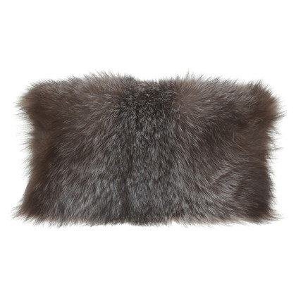 Zac Posen clutch with fur trim