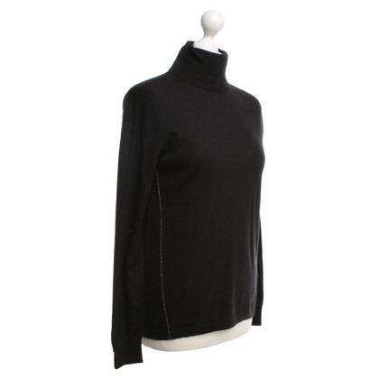 Escada Roll collar sweater in black