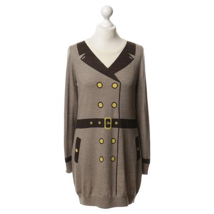 Moschino Cheap and Chic Gebreide jurk met print