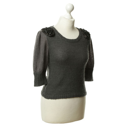 By Malene Birger Top con Schulterapplikationen