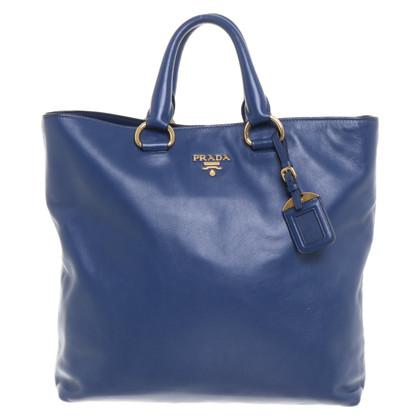 Prada Handtas in blauw