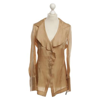 Donna Karan Silk blouse beige
