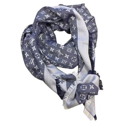 Louis Vuitton Sciarpa Monogram Denim blu