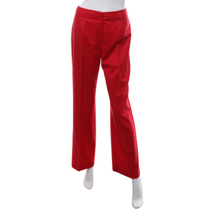 MCM trousers in red