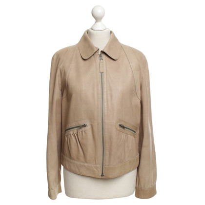 Red Valentino Leather jacket in beige / grey
