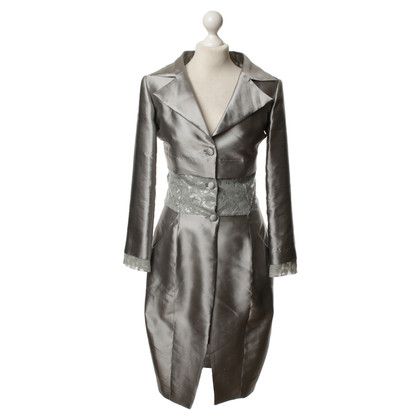 Guido Maria Kretschmer Long Blazer in silver