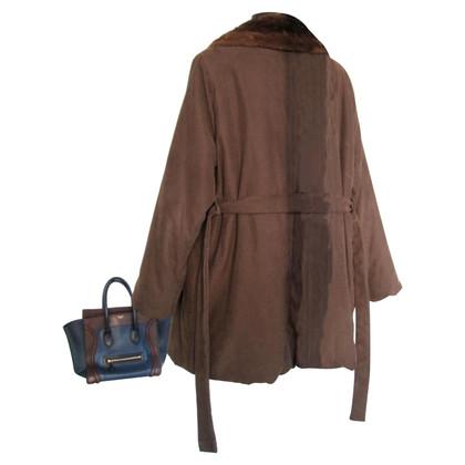 Max Mara Short coat with fur collar